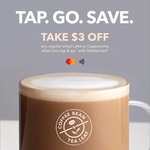 $3 off Regular-Sized Café Latte or Cappuccino at The Coffee Bean & Tea Leaf When You Tap & Go Using Mastercard