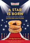 Salted Egg Lava Original Glazed Doughnut: $3.30/Piece or $29.50/Dozen at Krispy Kreme
