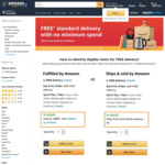 Free Delivery with No Min Spend on Items Sold and Shipped or Fulfilled by Amazon @ Amazon SG