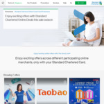 11.11 Sale off with Standard Chartered Credit Card: $12 off at ezbuy / $15 off at Taobao / Up to $38 off at Lazada & More