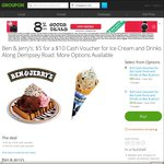 Groupon - $5 for $10 or $10 for $20 to Spend at Ben & Jerry's Dempsey Road