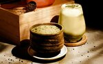 1 for 1 Iced Hoji-Cino / Matcha Latte at Huggs Coffee