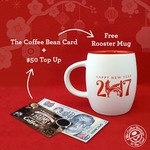 Free Rooster Mug with $50 Top Up on The Coffee Bean Card at The Coffee Bean & Tea Leaf