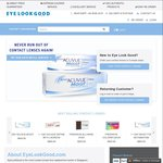 10% off First Purchase + Free Trial Lenses on Subsequent Purchases at EyeLookGood