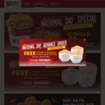 Free 3x Medium Whipped Potato Sides (U.P. $10.20) with $52 Minimum Spend at KFC Delivery