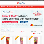 $10 off at FairPrice ($100 Minimum Spend, Mastercard)