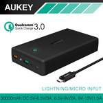 AUKEY 30000mAh Power Bank (QC 3.0/AiPower, Dual USB Input/Output) for US $34.15 (~SG $46) Delivered from AUKEY via AliExpress