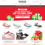 Crocs End of Season Sale: Up to 50% off + Extra 30% off On Sale