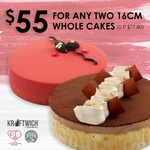 Kraftwich $55 for Any Two 16cm Whole Cakes National Day Promotion 1-31 Aug 2020