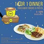 1 for 1 Takeaway Mains and Pasta for Dinner at Kith Café (Monday to Friday, 6-10pm Daily)
