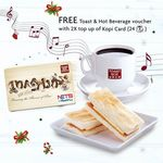 Free Toast & Hot Beverage Voucher (U.P. $3.60) with 2x Kopi Card Top Ups at Toast Box