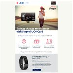 Free Fitbit Charge 2 for New Singtel-UOB Credit Card Applicants ($0 Annual Fees)