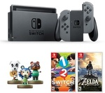 Nintendo Switch with Gray Joy-Con + Legend of Zelda + 1-2 Switch Bundle for $509 Delivered from Lazada