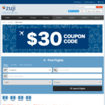 $30 off Flights (Min. $400 Spend) @ Zuji