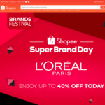 $8 off ($40 Min Spend) or $15 off ($60 Min Spend) at L'Oreal Paris via Shopee
