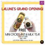 Free Mini Croissant & Milk Tea at Lalune (313@Somerset) [Facebook/Instagram Required]