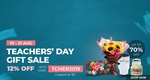 12% off Teacher's Day Collection at Shopee