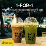1 for 1 O-Matcha or Houjjichaa Ice Blended Drinks at Tsujiri (Clarke Quay Central & Centrepoint)