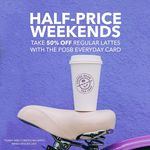 50% off Regular Lattes at The Coffee Bean & Tea Leaf (POSB Everyday Cards, Friday to Sunday)