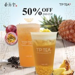 50% off second cup of Pineapple Tea or Passionfruit Green Tea at TP Tea