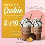 2 Small Size Chocolate Cookie Ice Blended Drinks for $10 at The Coffee Bean and Tea Leaf