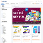 $5 off ($55 Min Spend) or $12 off ($100 Min Spend) on Participating P&G Products at FairPrice