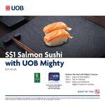 $1 Salmon Sushi (U.P. $3.20) at Sushi Tei via UOB Mighty QR Pay