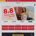18% off Sitewide ($88 Min Spend) at SHEIN