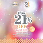 21% off Total Bill for 21 Year Olds at Ichiban Boshi
