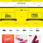 Crocs - 20% off Plus Free Shipping Sitewide (No Minimum Spend)