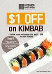 $1 Off Kimbab at Baro Baro (Instagram Follow Required)