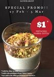 Mushroom Soup for $1 with Any Main Course Purchase at Saveur