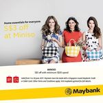 $3 off at Miniso ($30 Minimum Spend, Maybank Cards)