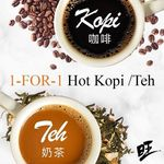 1 for 1 Hot Kopi/Teh at WangCafe (Facebook Like Required, Wednesday 21st June)