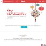 5% off All Gift Cards at Wogi for Chinese New Year (for Lazada, Shopee, FairPrice, Klook, HipVan, Mobike & More)