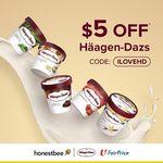 $5 off on Häagen-Dazs Products at FairPrice via honestbee ($30 Minimum Spend)