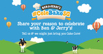 Ben & Jerry's Free Scoops Today 12-3pm at 313@somerset and Orchard Gateway Outlets