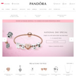 53% off on Every 2nd Full Priced Item Purchased at Pandora