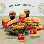 Rendang Sedap Angus Beef Burger Meal for $6.95, Ha Ha Cheong Gai Chicken Burger Meal for $5.95 at McDonald's