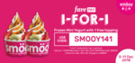1 for 1 Frozen Mini Yogurt with 1 Free Topping at Smöoy (FavePay) [Tampines]