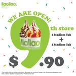 2x Medium Tubs for $9.90 at llaollao (Compass One)