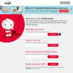 Free KFC Tenders Bundle Meal with Minimum $15 Top-up @ Singtel Hi!