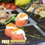 Free Salmon Hana Maki with $50 Order at One Sushi on on GrabFood, Foodpanda & Deliveroo