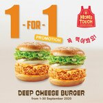 1 for 1 Deep Cheese Burger at MOM'S TOUCH