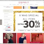 Esprit Christmas Sale - Extra 30% off All Items