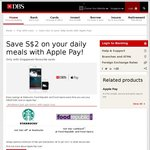 $2 off $2 Minimum Spend at Starbucks with DBS/POSB Apple Pay until 31/1/17