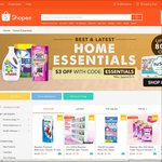 $3 off Home Essentials at Shopee ($15 Minimum Spend)