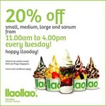 20% off Small, Medium, Large and Sanum Tubs at llaollao (Tuesdays, 11am to 4pm)