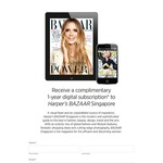 One Year's Complimentary Digital Subscription to Harper's Bazaar (First 300 Redemptions)