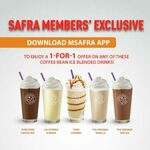 1 for 1 Ice Blended Drinks at The Coffee Bean & Tea Leaf (mSAFRA App Required, SAFRA Members)